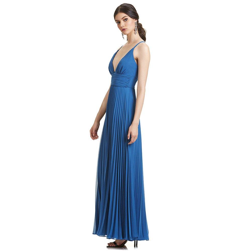 Ariela vestido largo espalda cruzada