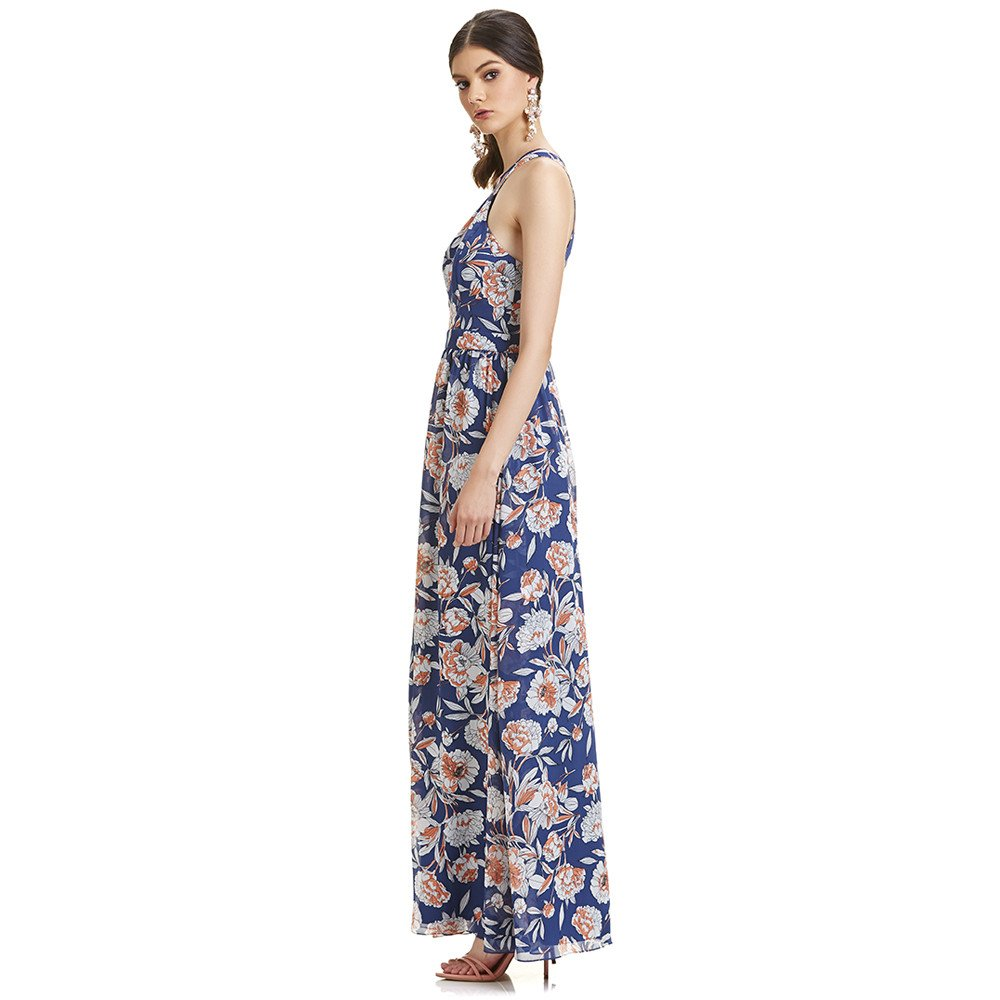 Leonor vestido largo cuello halter