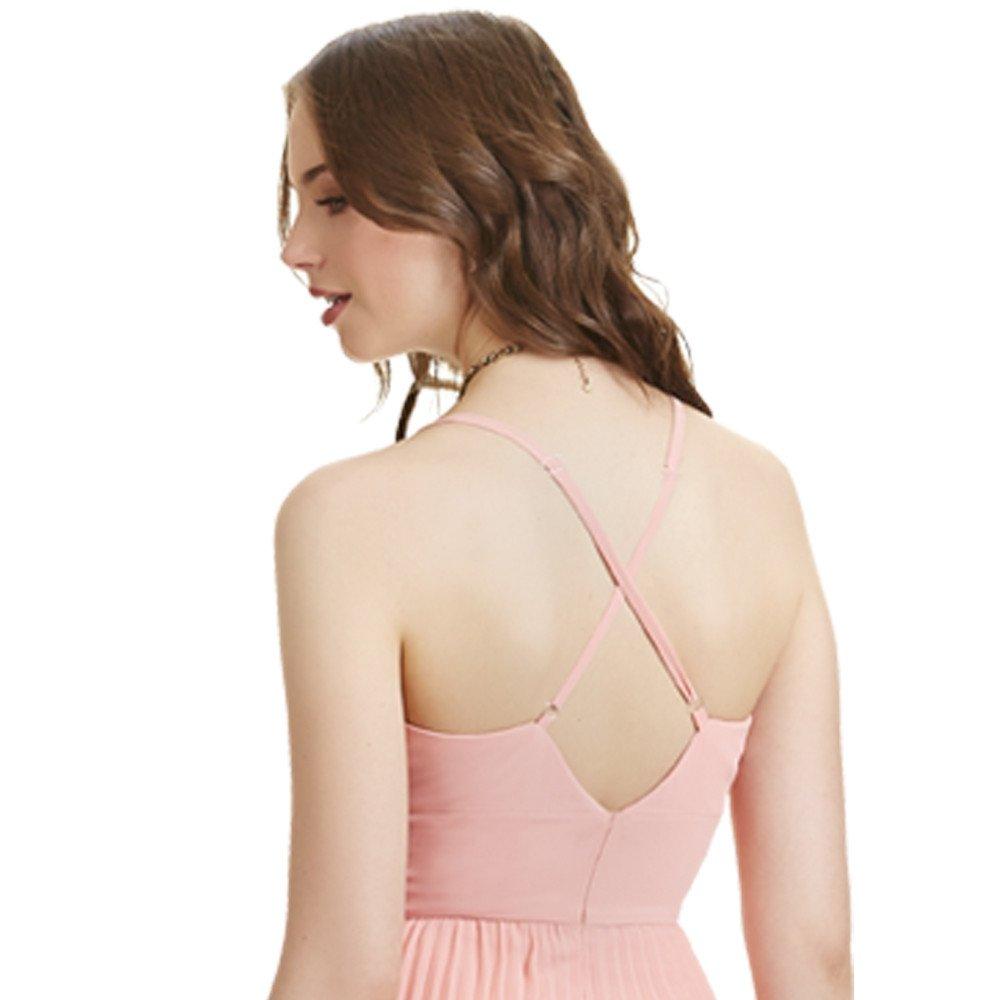 Atenea vestido corto imperio drapeado con tirantes cruzados en espalda
