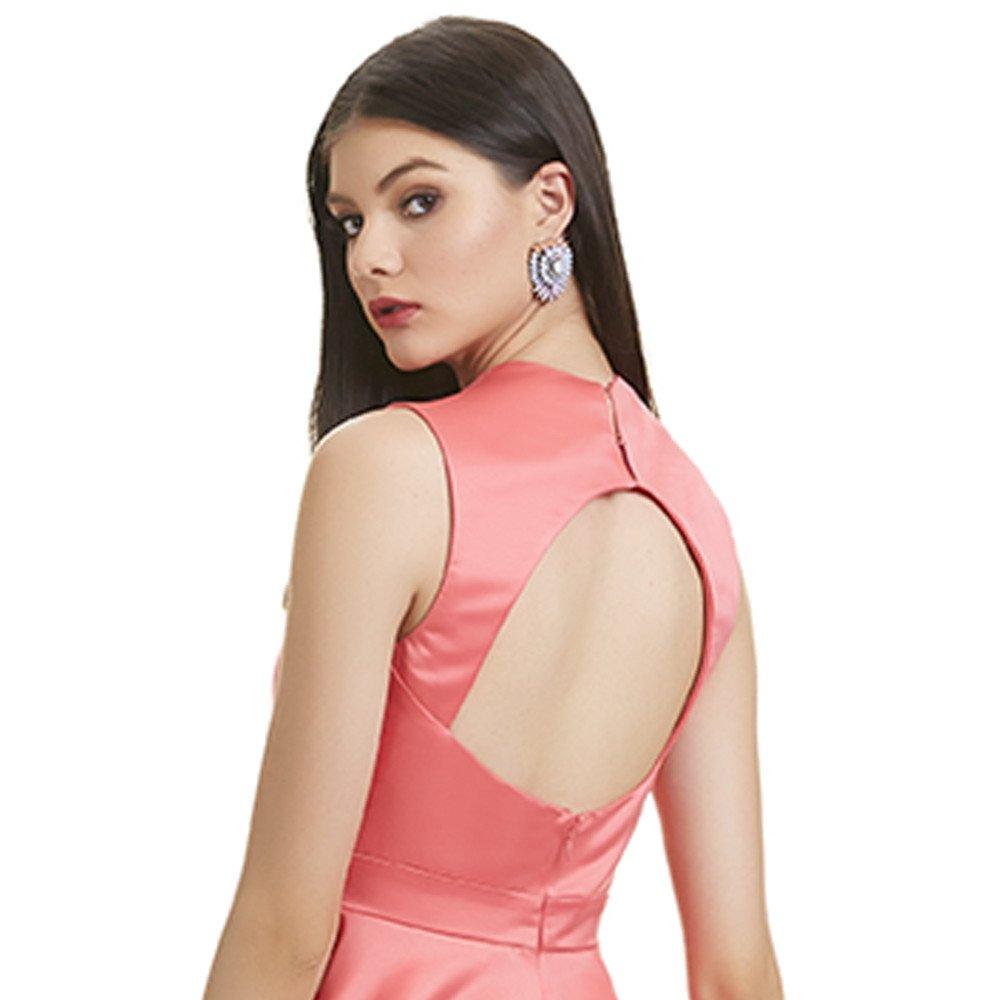 Amaya vestido corto cuello halter espalda descubierta