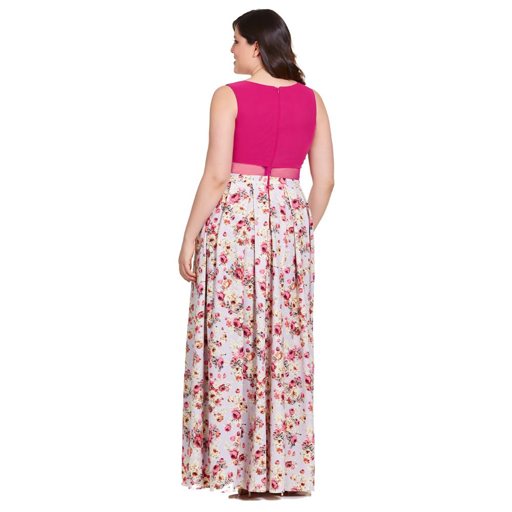 Abigail vestido largo con estampado floral