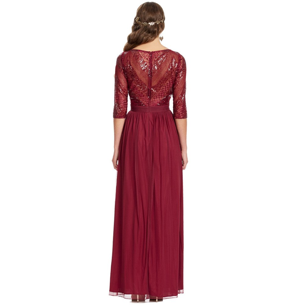 Kamil vestido largo con manga larga