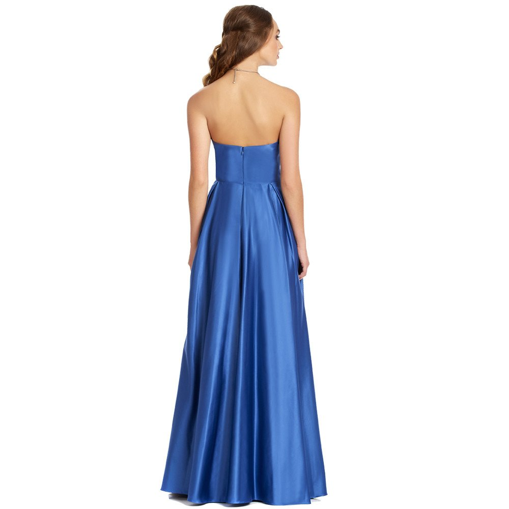 Suemi vestido largo strapless