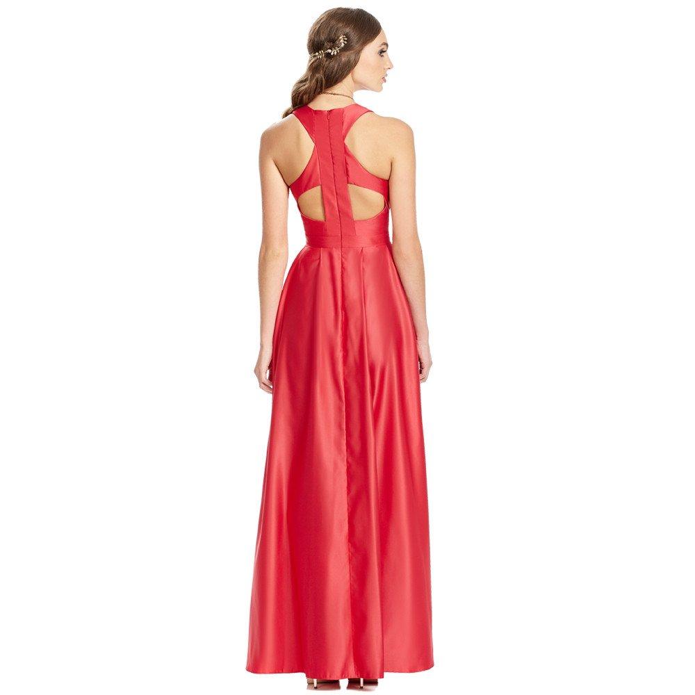 Miriam vestido largo con espalda semidescubierta