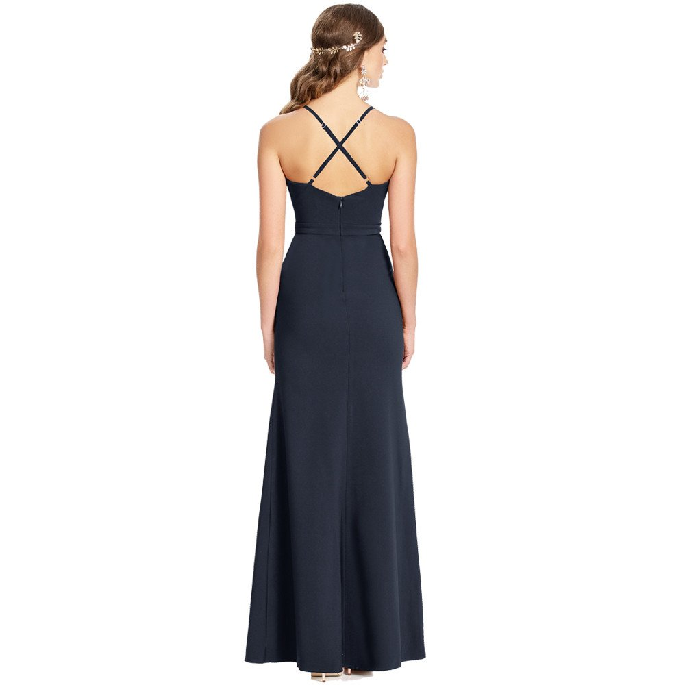 Sujey vestido largo espalda semidescubierta