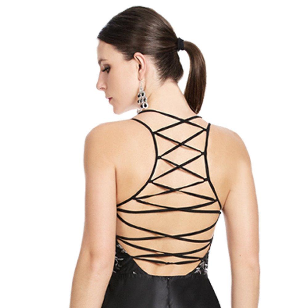Thalia vestido largo línea A espalda descubierta con jaretas