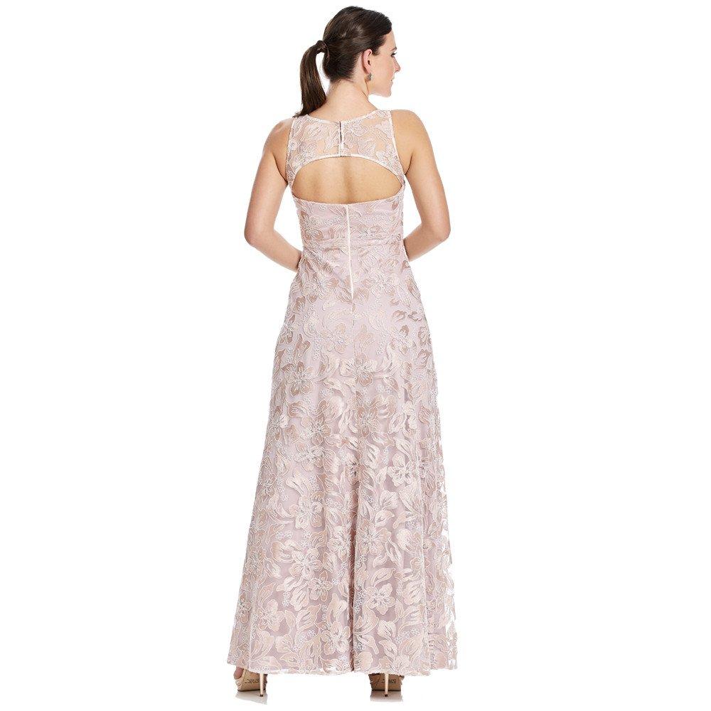 Alessandra vestido largo transparencia en hombros escote en espalda