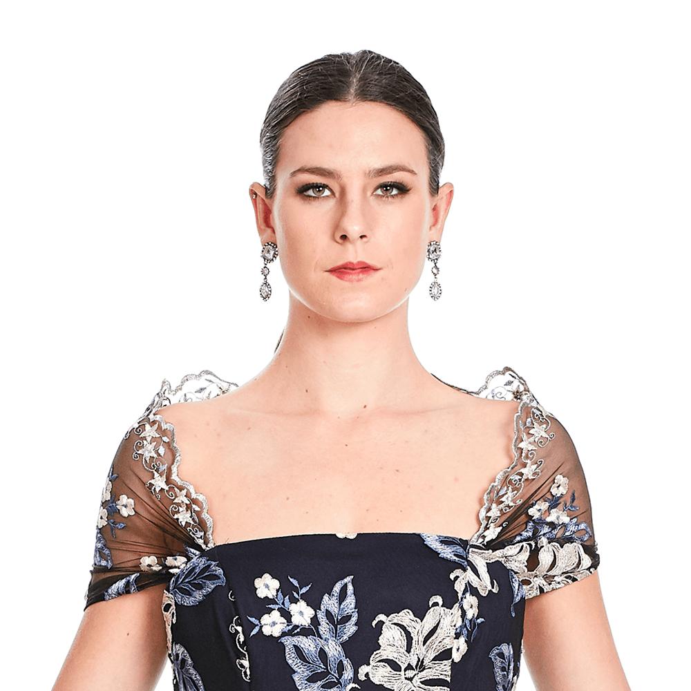 Mariana vestido largo off shoulder
