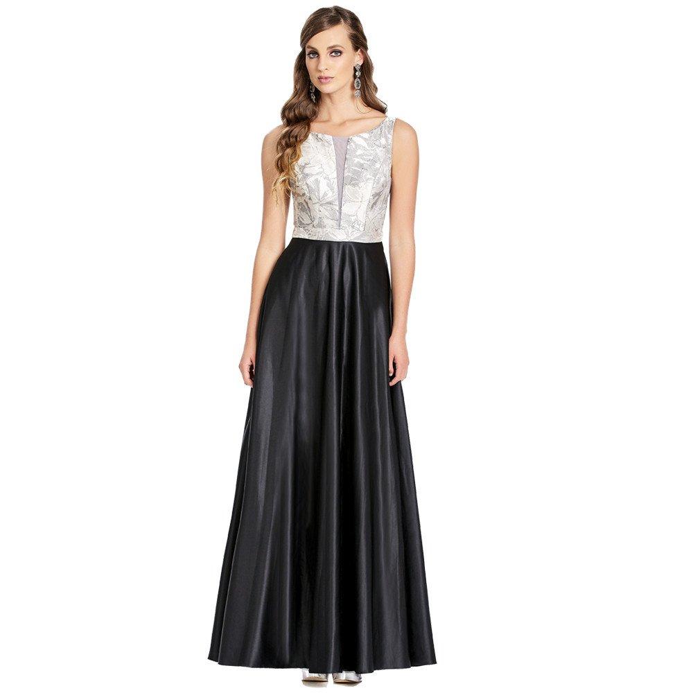 Enid vestido largo con tirantes transparencia frontal y lateral