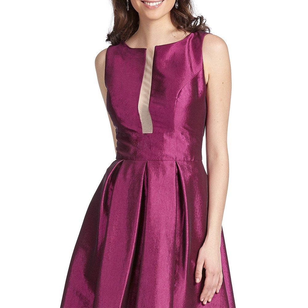 Clementina vestido largo con transparencia frontal