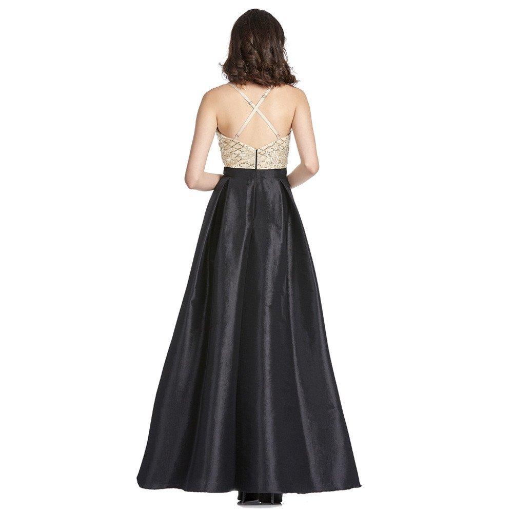 Martina vestido largo alto contraste