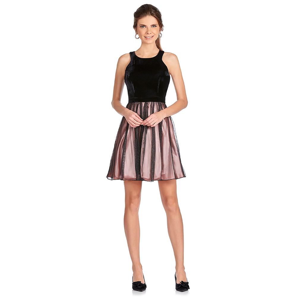 Alina vestido corto con escote deportivo