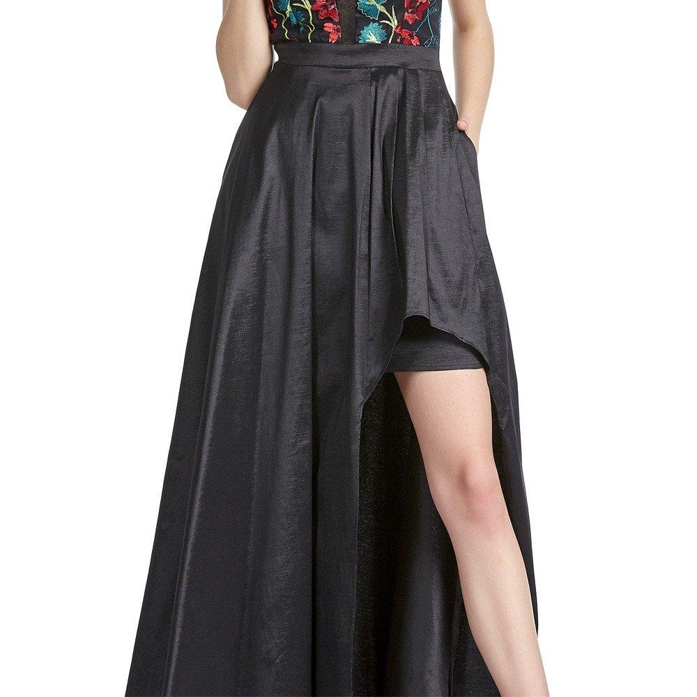 Catherine vestido largo con escote en falda