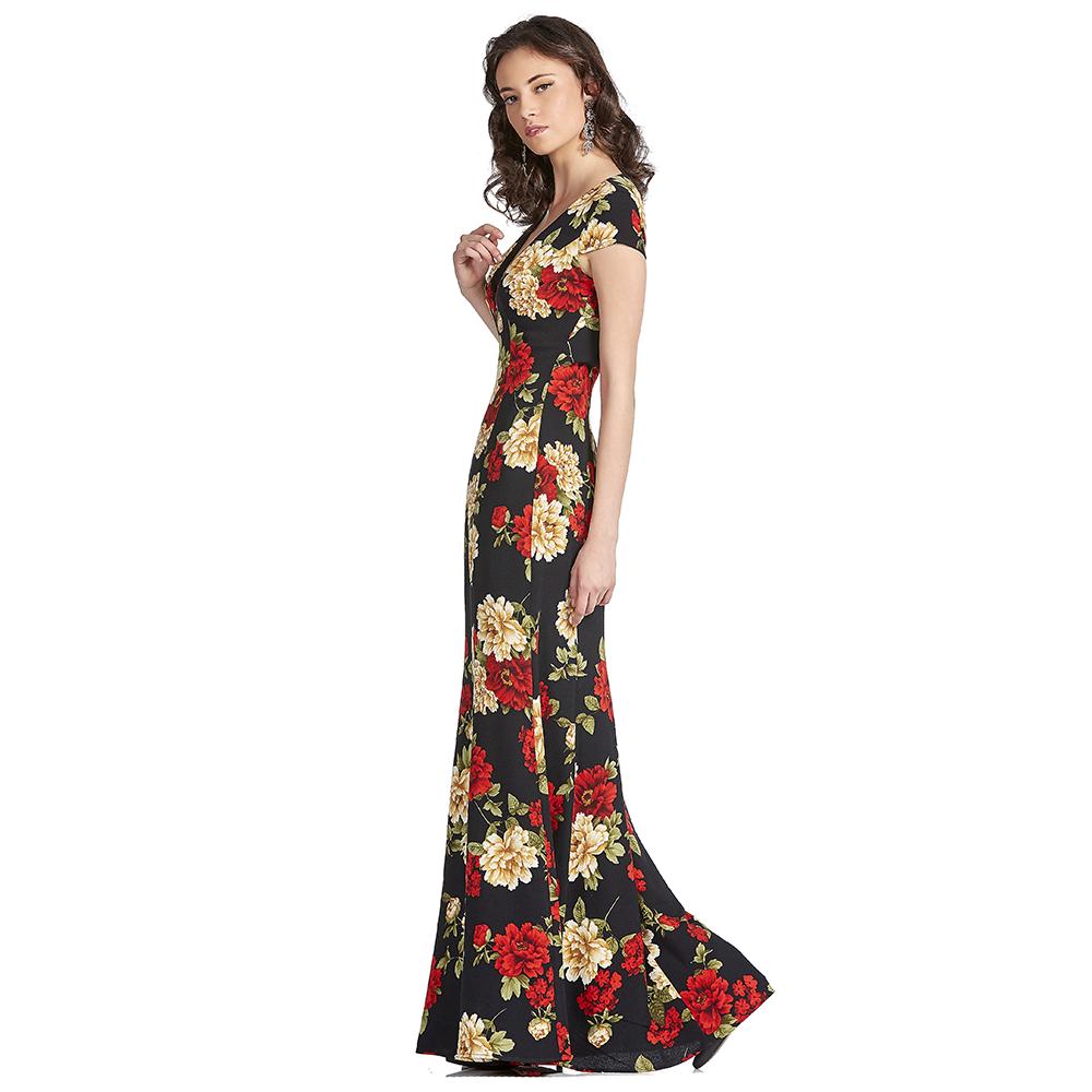 Rosabella vestido largo estilo sirena