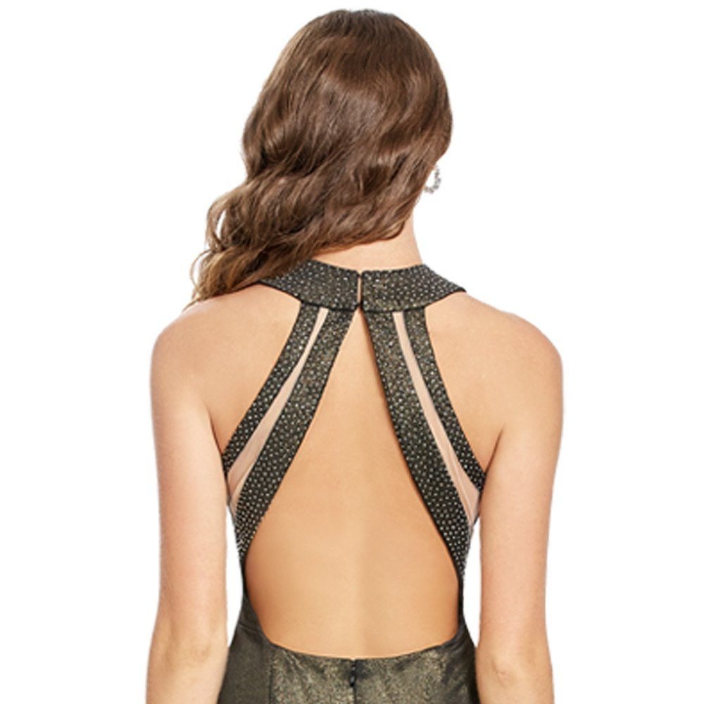 Noreia vestido largo corte francés silueta sirena espalda descubierta