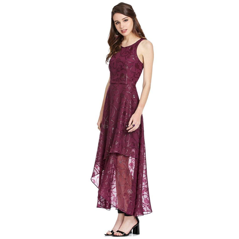 Shina vestido midi high-low envolvente
