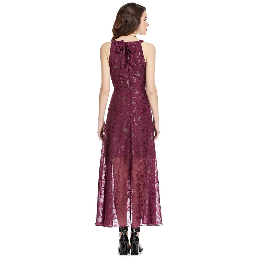 Shina vestido hi-low con detalle de doble tela en la parte frontal