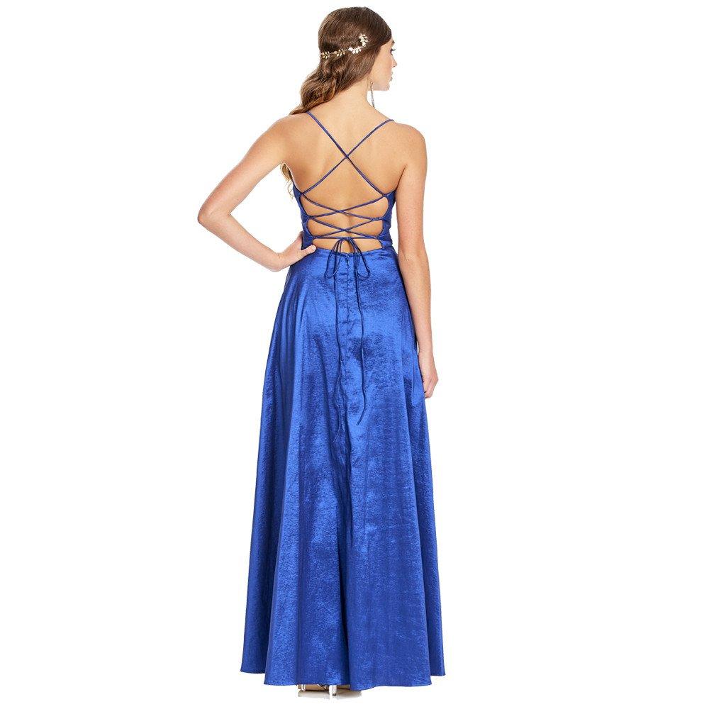 Amaral vestido largo con tiras ajustables