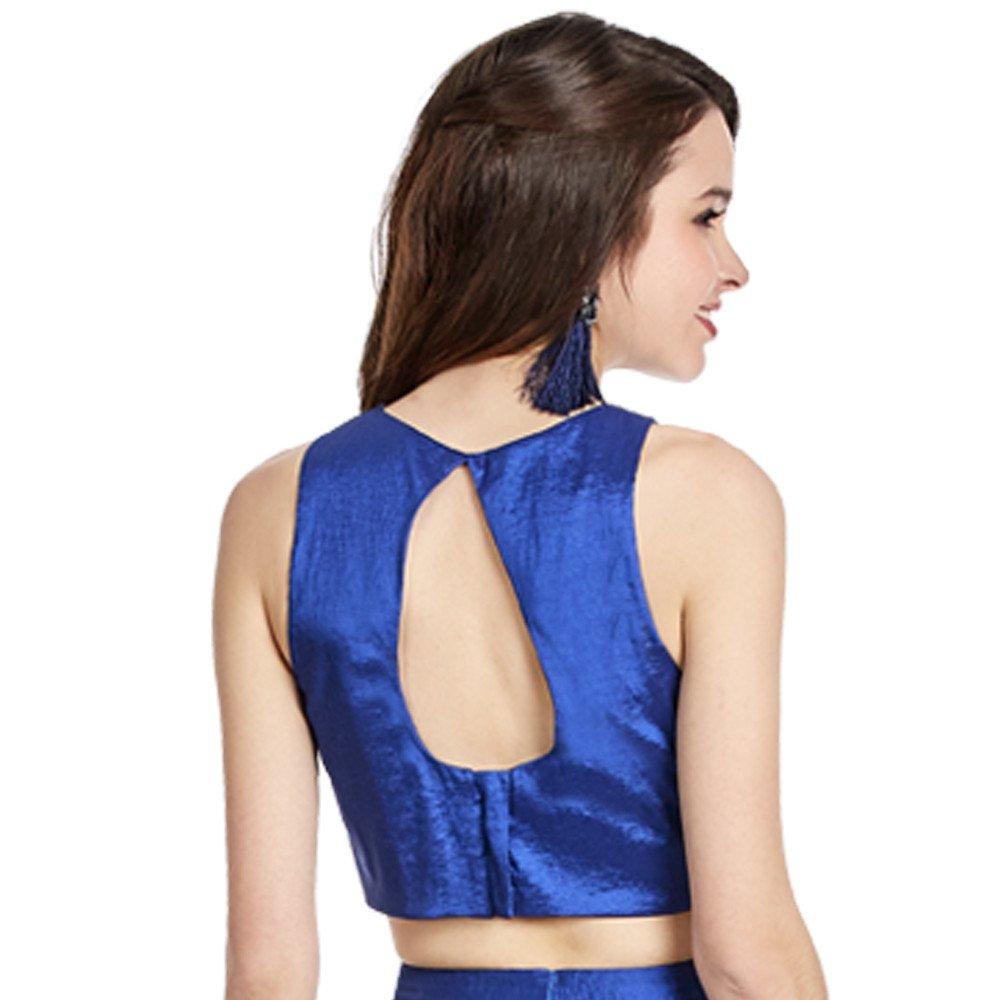 Ingrid vestido corto crop top espalda descubierta