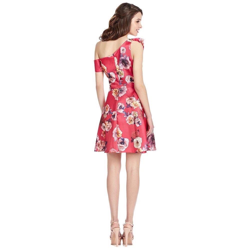 Lidia vestido corto off shoulder asimétrico