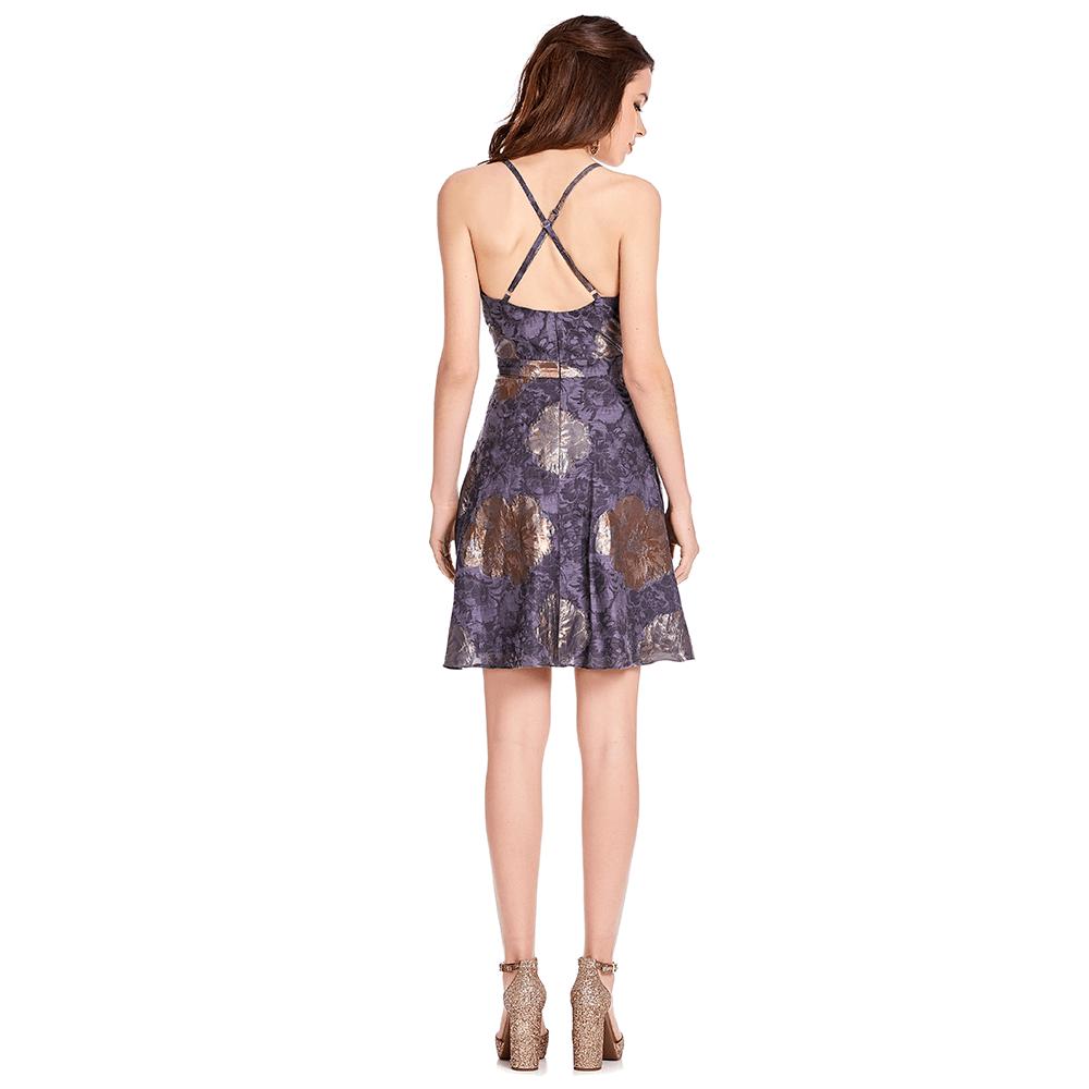 Julieta vestido corto tirantes cruzados en la espalda