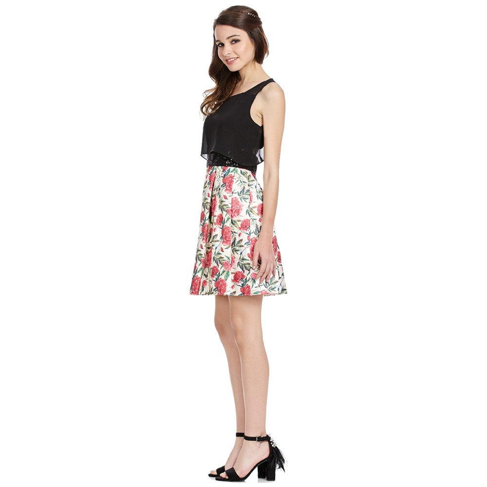 Isaura vestido corto con transparencias