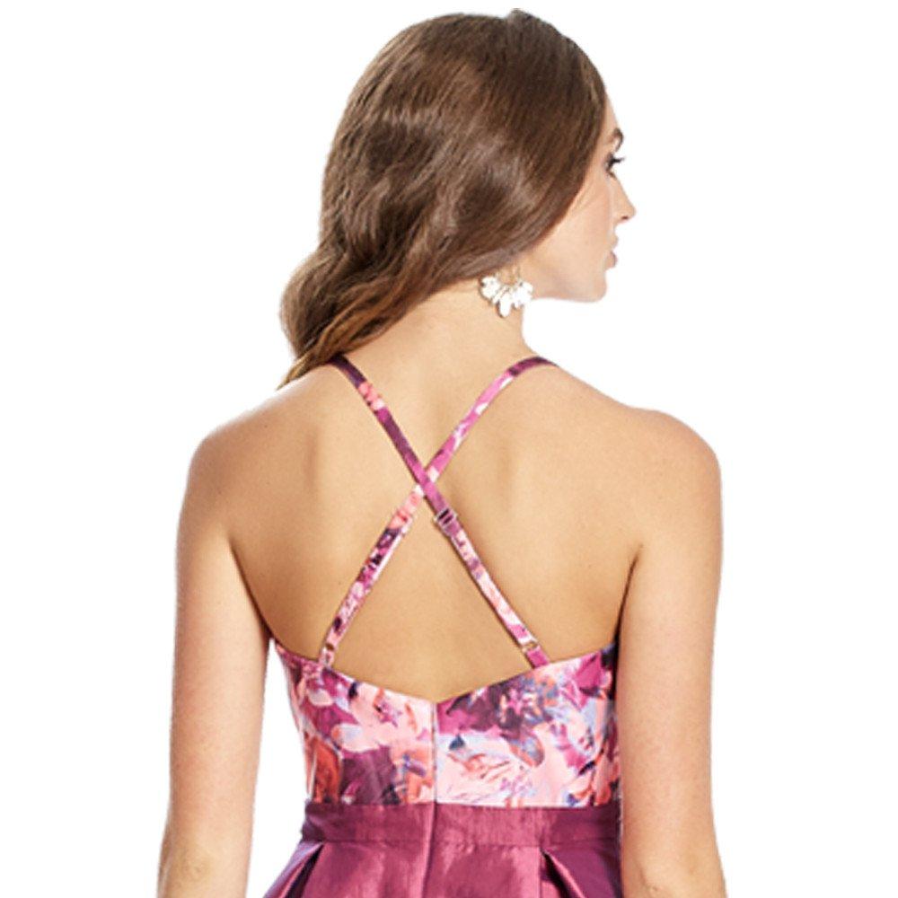 Eleonor vestido corto escote V con transparencia