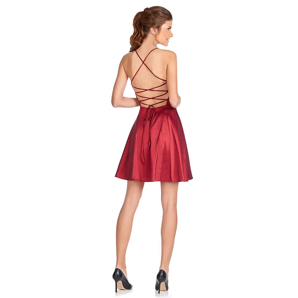 Ailen vestido corto con tiras cruzadas