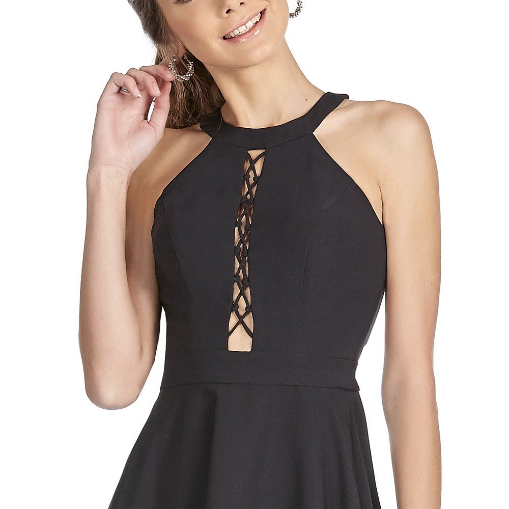 Yuliana vestido corto halter con diseño es espalda