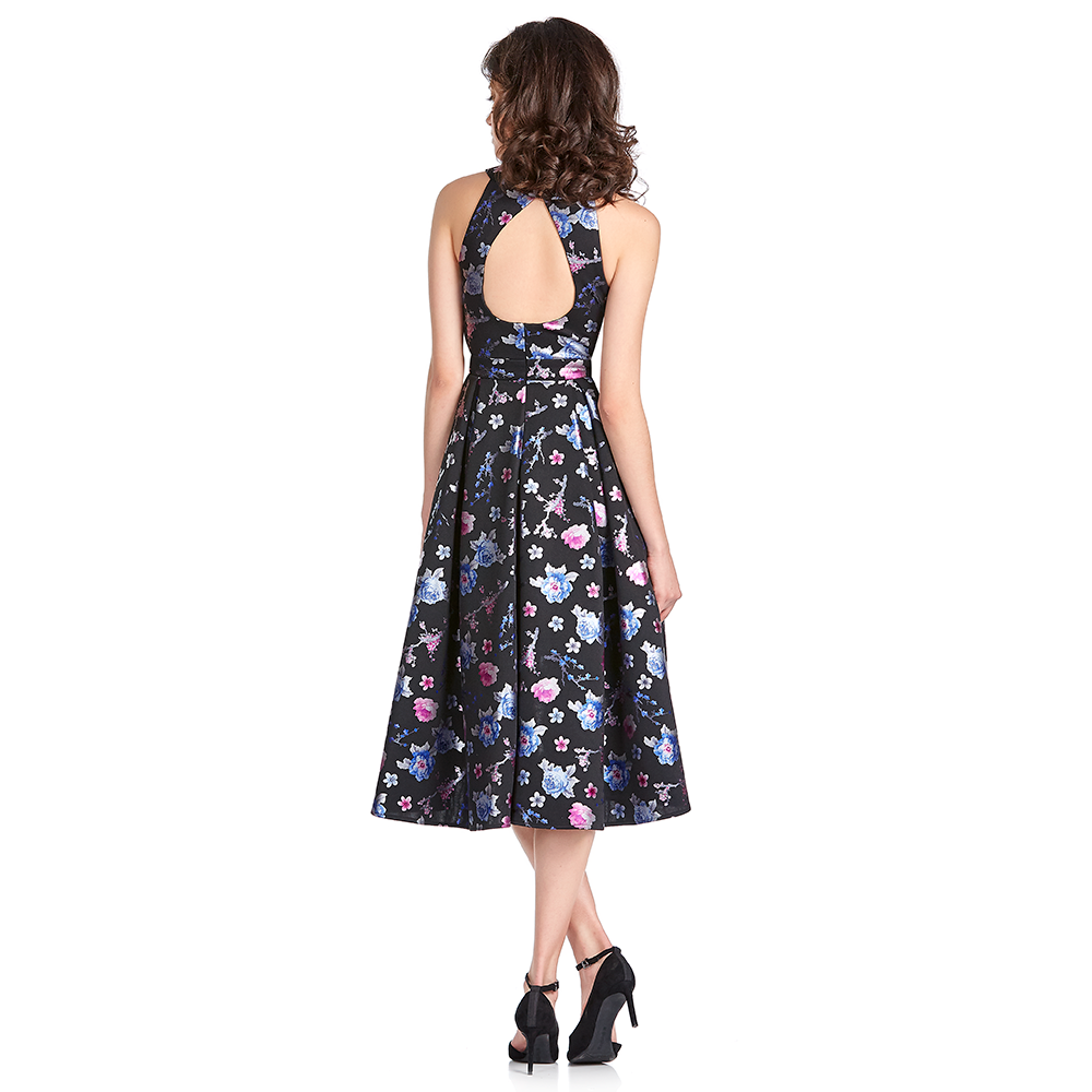 Ethel vestido estampado high-low