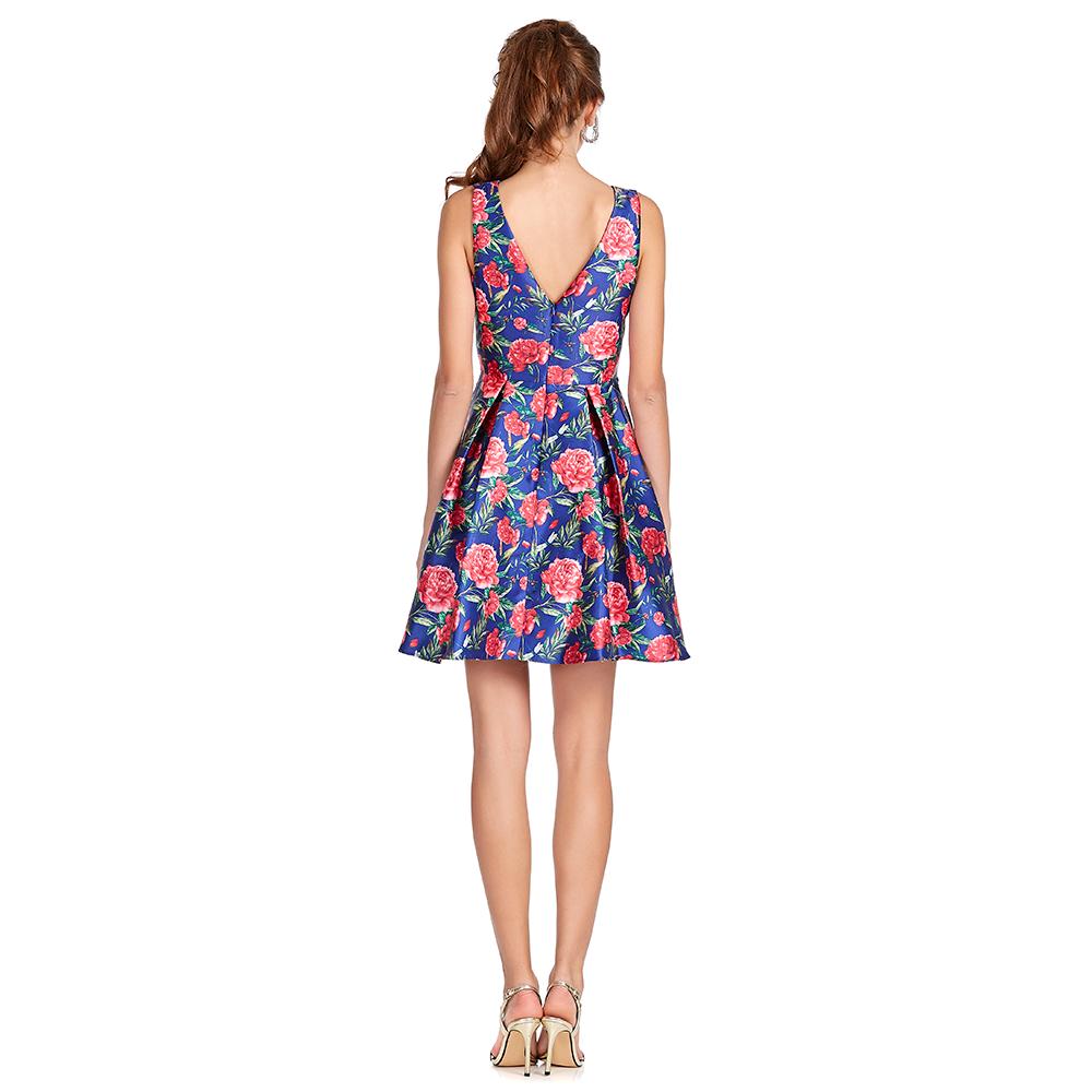 Belinda vestido corto con tablones encontrados