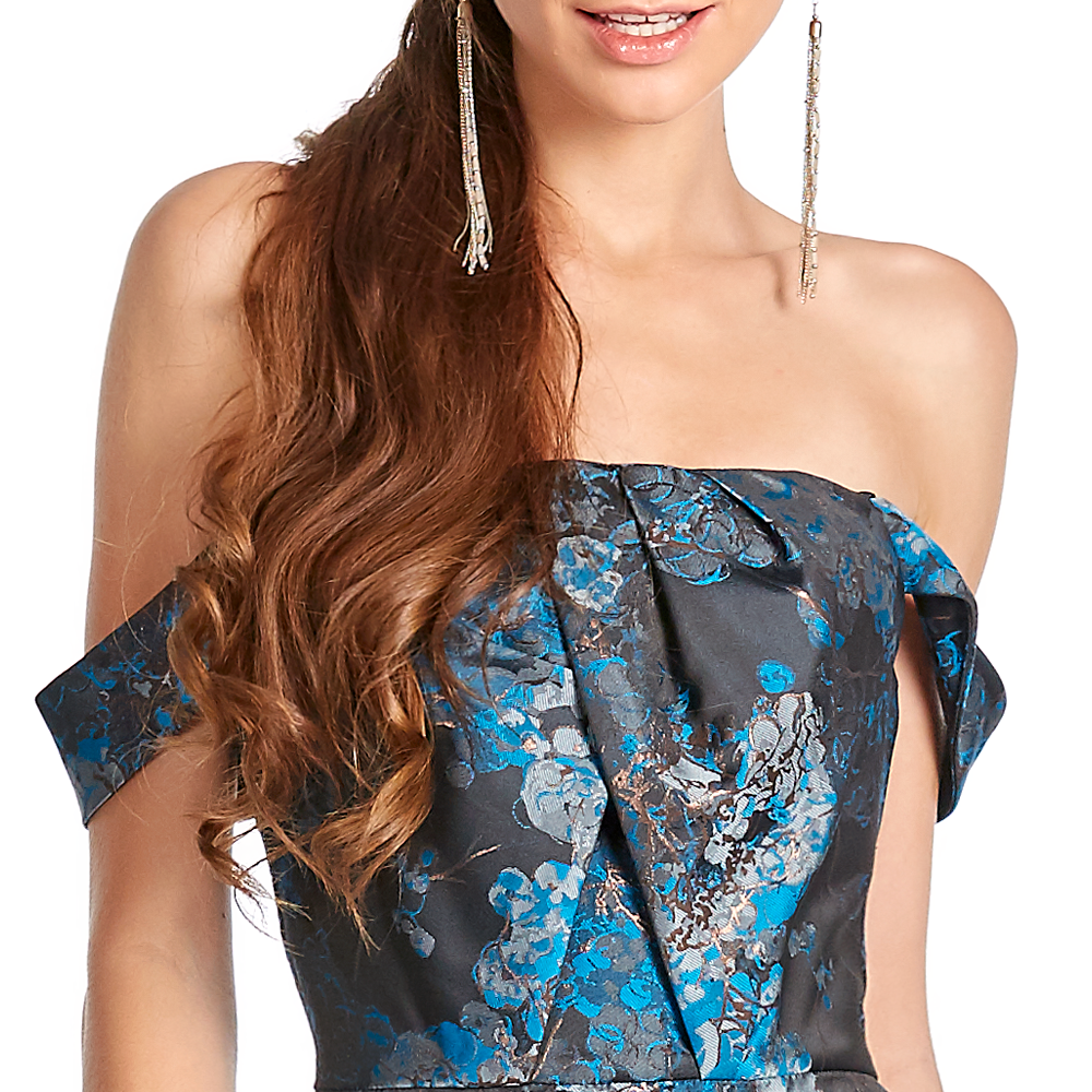Malka vestido largo estilo sirena off shoulder