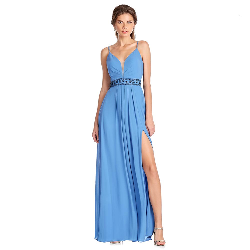 Rubi vestido largo con abertura en falda