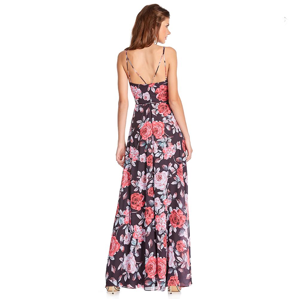 Xiara vestido largo escote profundo