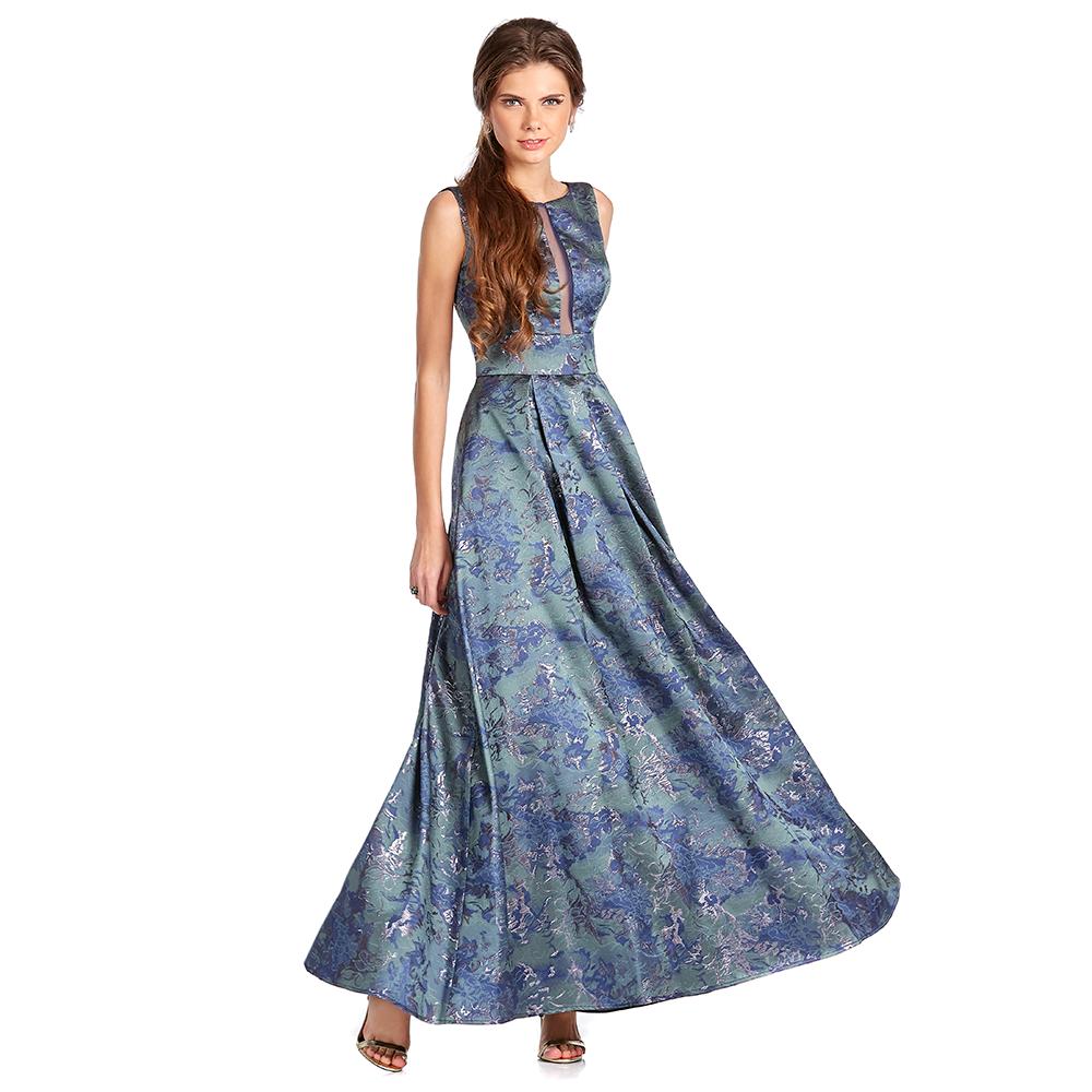 Eugenia vestido largo con transparencia