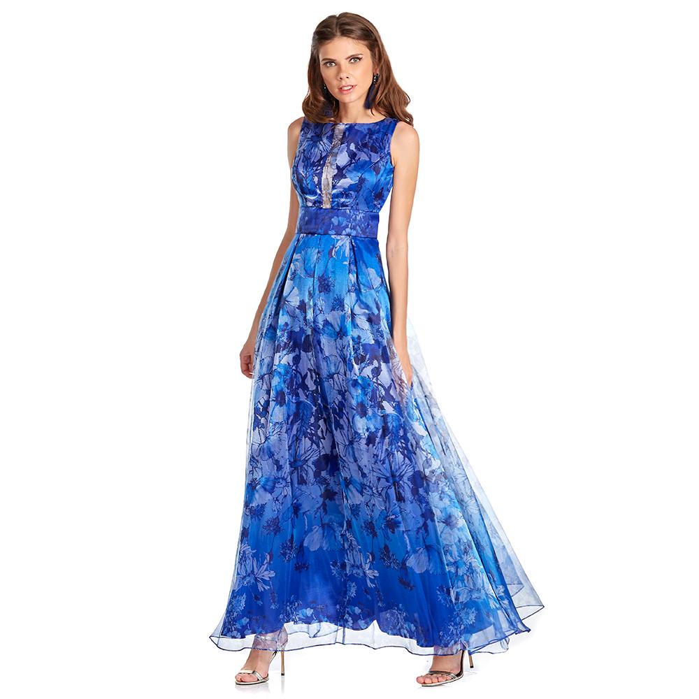 Mely vestido largo escote con transparencia