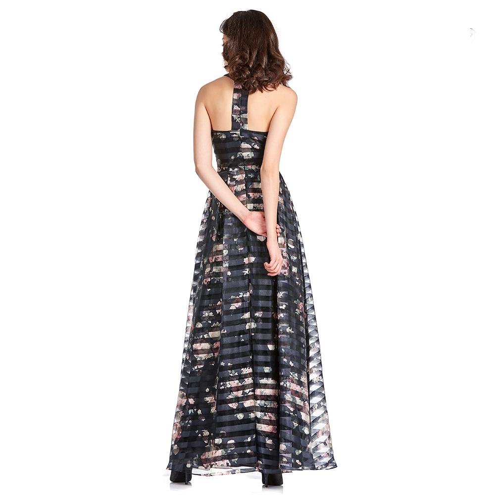 Lorena vestido largo con transparencias