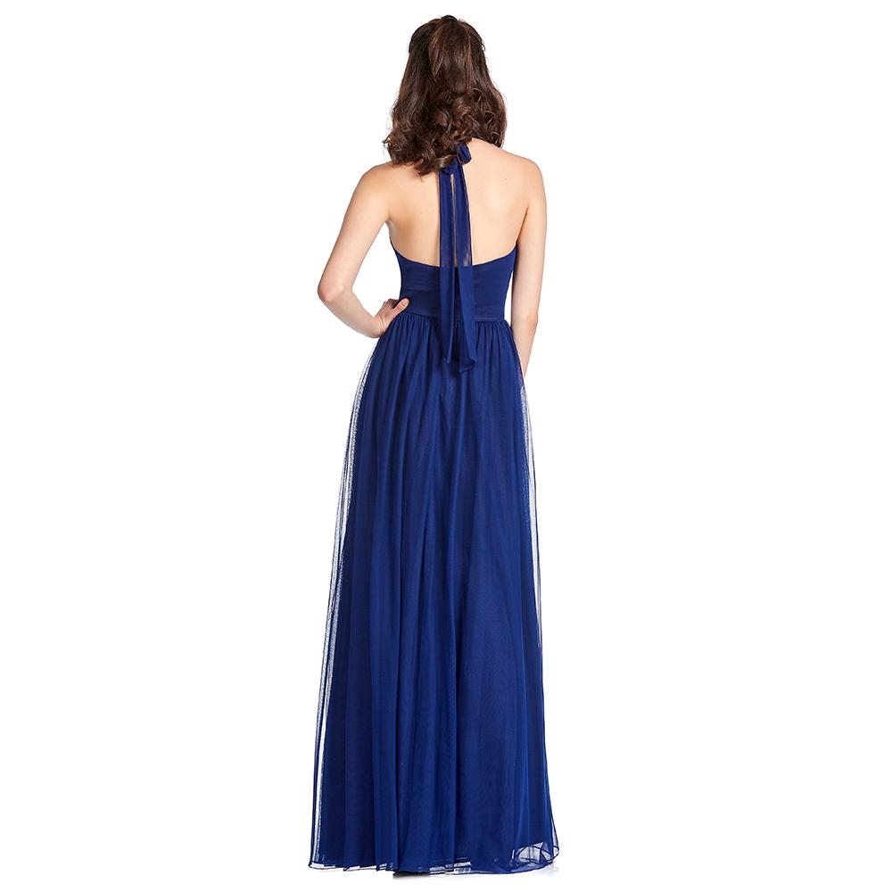 Itzuri vestido largo halter con transparencia