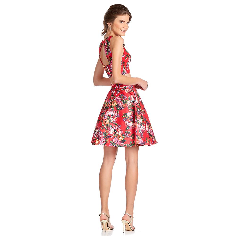 Yolet vestido corto floral crop top