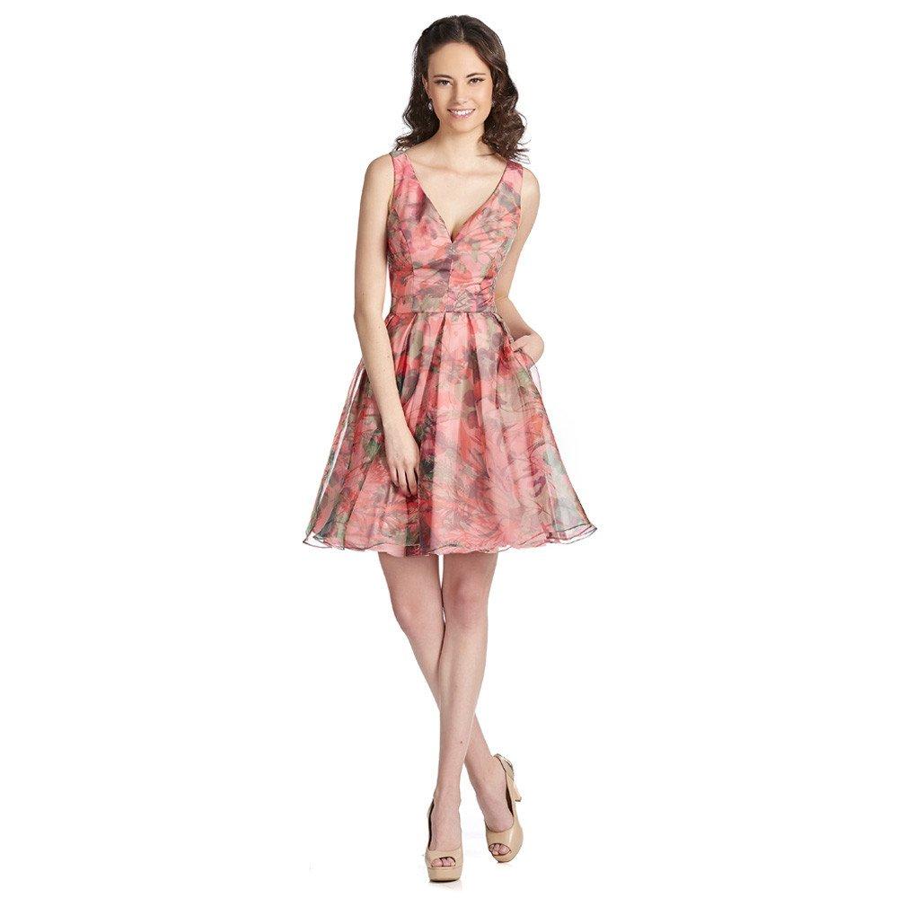Suleyma vestido corto coral escote corazón