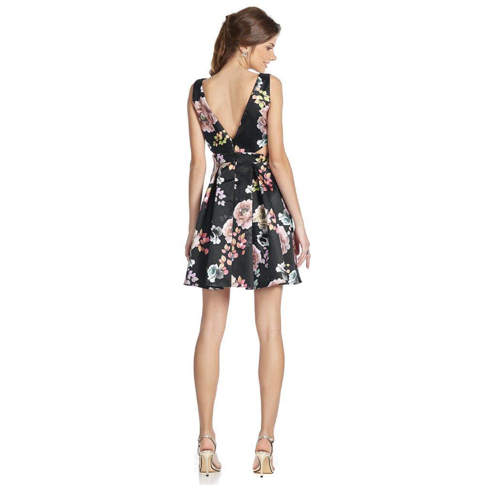 Sumelia vestido corto escote V corte en cintura