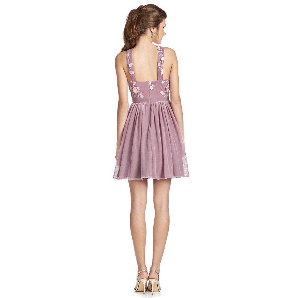 Fiora vestido corto escote halter