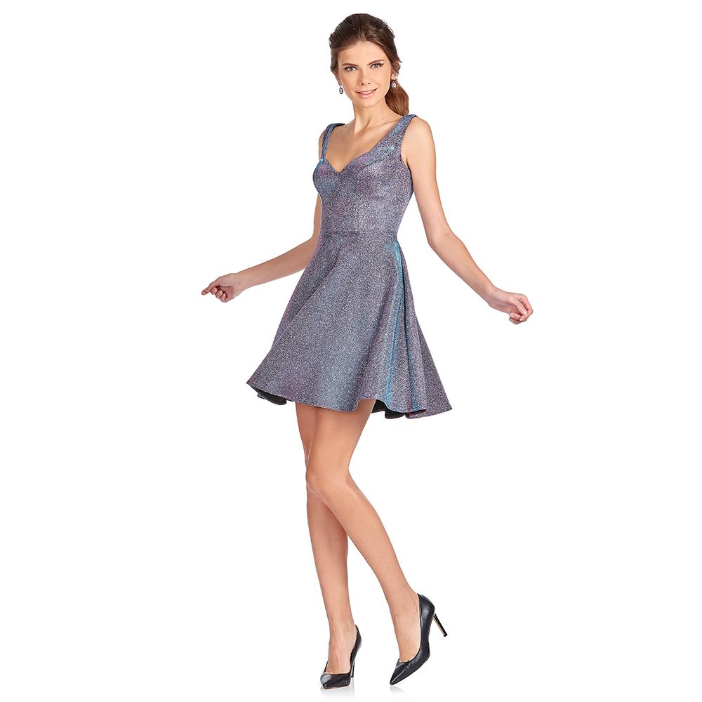Margaret vestido corto escote corazón y tirantes anchos