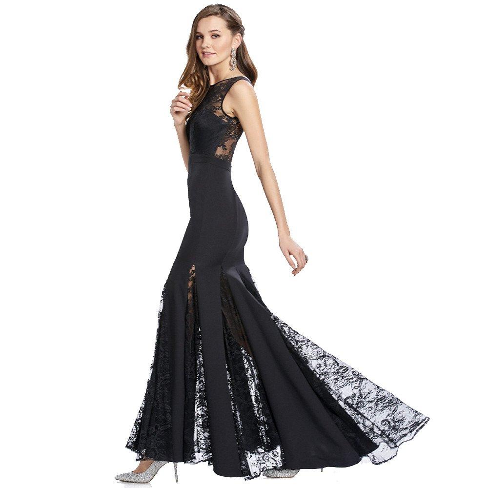 Jael vestido largo de encaje corte sirena con godetes en falda