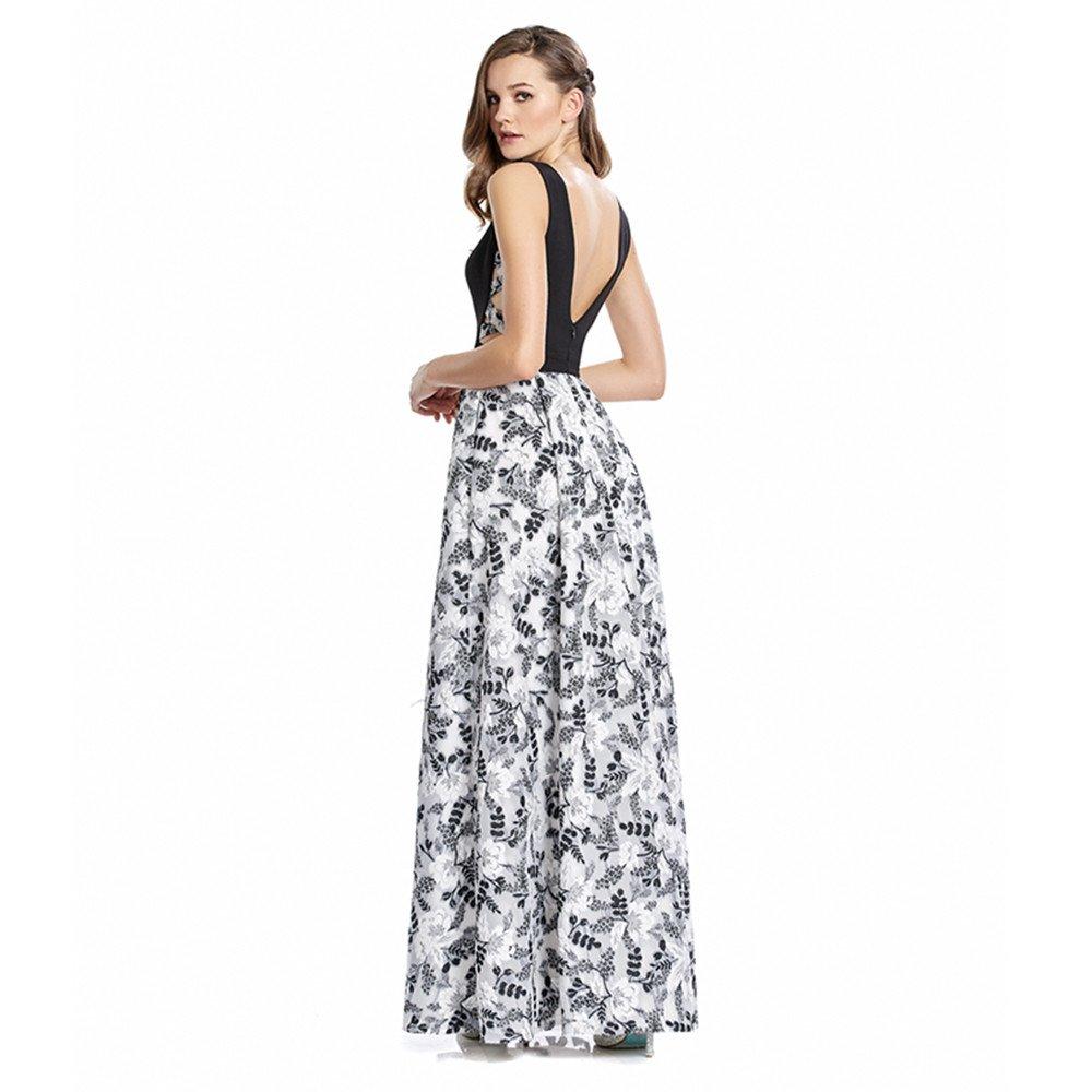 Paulina vestido largo con escote en espalda y detalle en costados