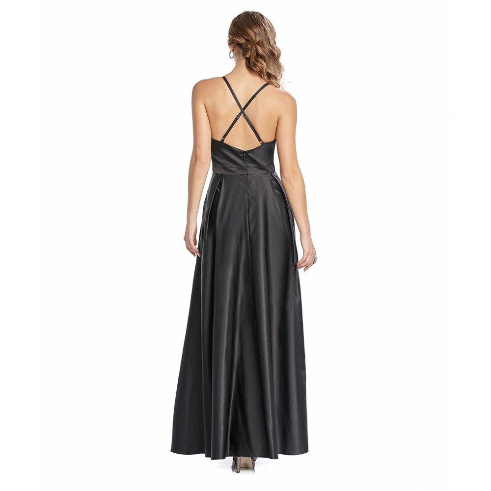 Tania vestido largo escote con detalle al frente y tirantes cruzados