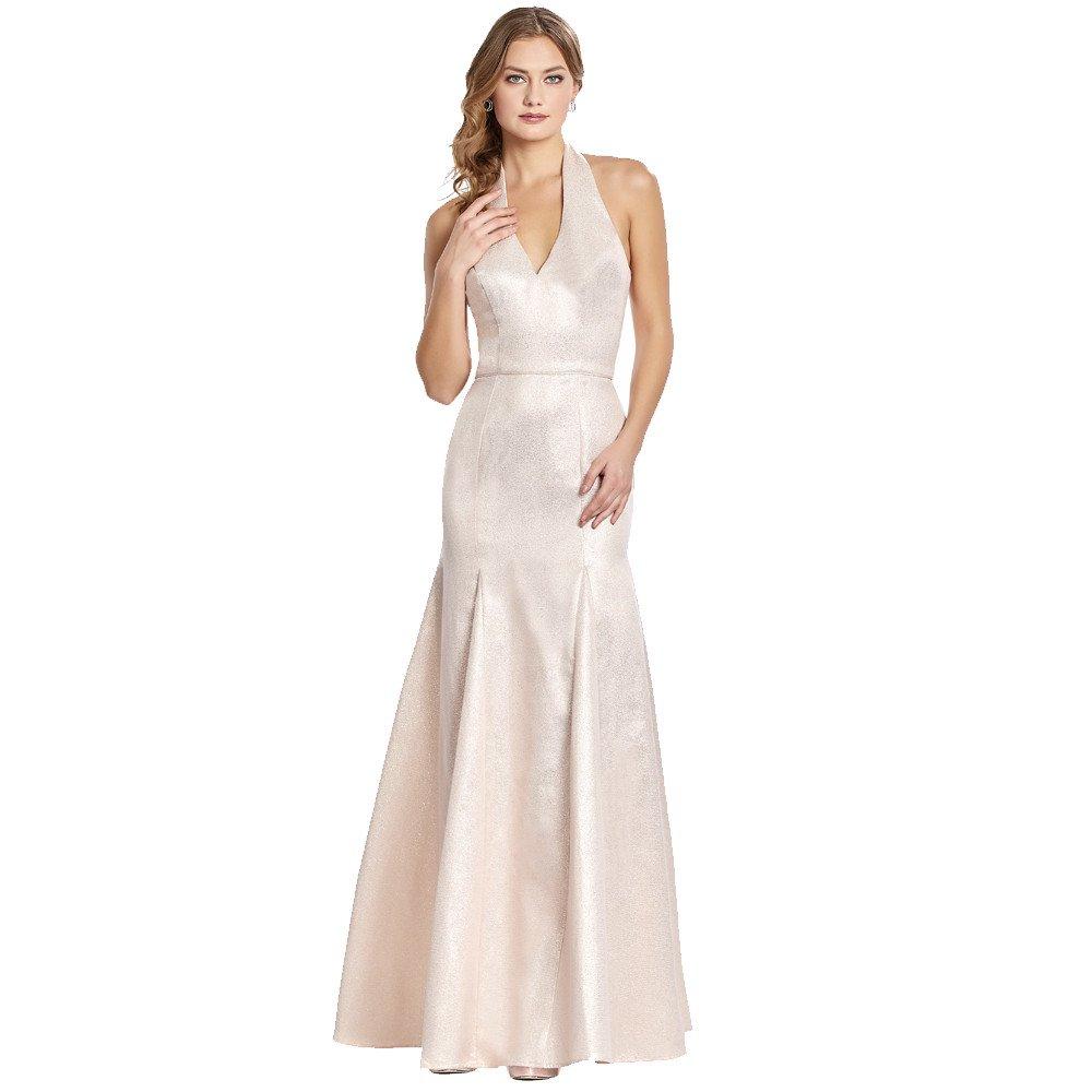 Donna vestido largo corte sirena con escote halter