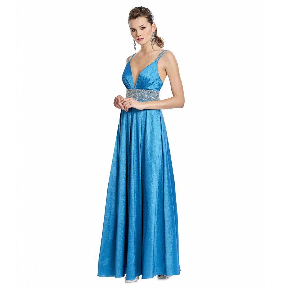 Nuria vestido largo con espalda descubierta y aplicaciones