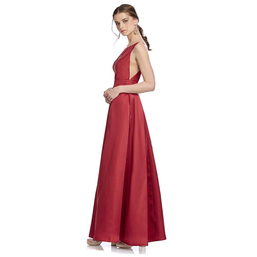 Carolina vestido largo con transparencia al frente y en costados