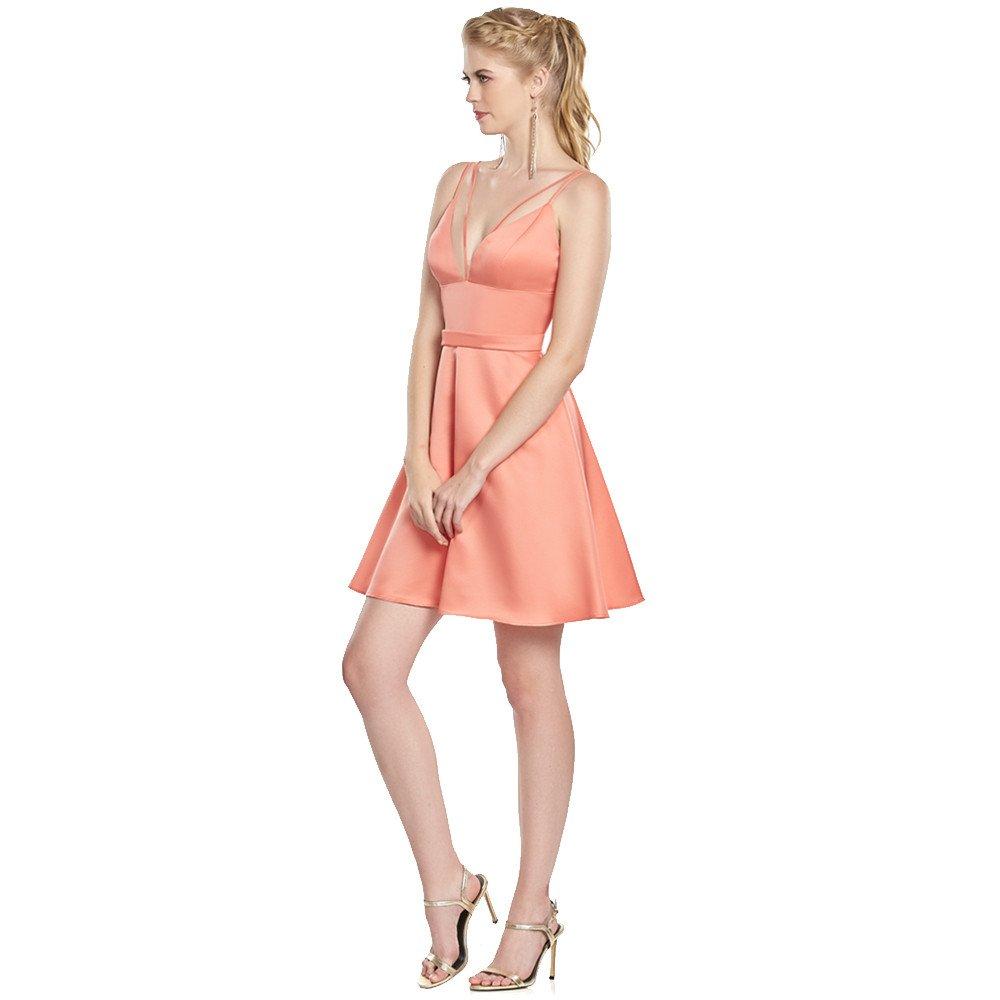 Fiona vestido corto de tirantes y falda línea A